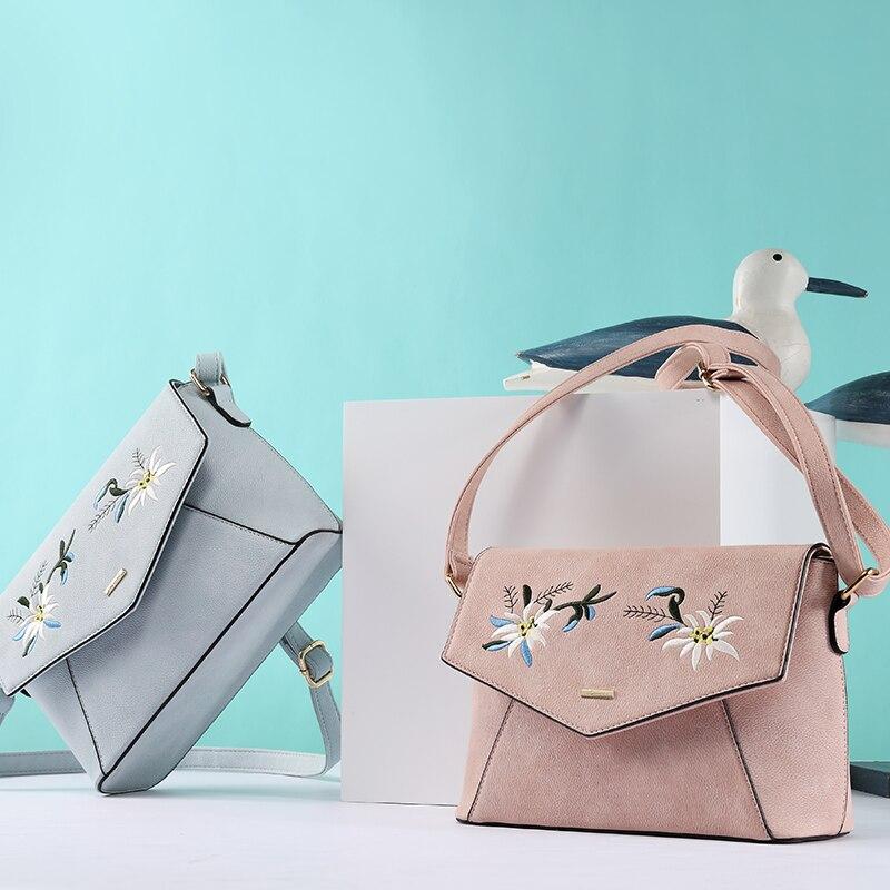 LOVEVOOK сумка женская через плечо не большая дамские сумки с вышивкой из искусственной кожи качественная сумка на плечо для женщины