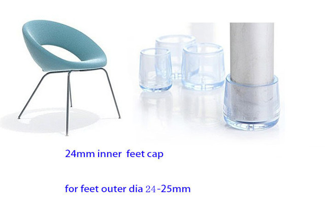 clear plastic furniture dining chair 24mm transparent chair feet leg cap cover pad pvc clear plastic tube end furniture table