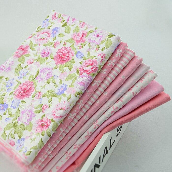 8 piezas 45 cm x 50 cm baby pink tela de algodón fat quarter bundle tilda coser