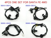 One Set 4Pcs ABS Wheel Speed Sensor Fits 01 06 Hyundai Santa Fe 4WD ABS Sensor