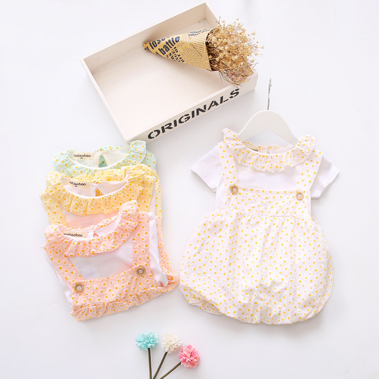 2017 Summer Style Baby Girls Dress Baby Girl Clothes Newborn Baby Dresses for Girls Cotton Floral Dress Kids Clothes Set 2pcs set newborn floral baby girl clothes 2017 summer sleeveless cotton ruffles romper baby bodysuit headband outfits sunsuit