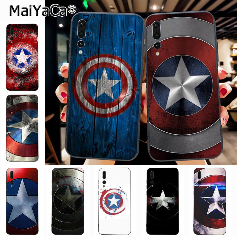 Maiyaca Captain America Shield Marvel Hot Printed Cool Phone Accessories Case for Huawei Honor 9 Honor 10 P20 case Coque чехлы марвел
