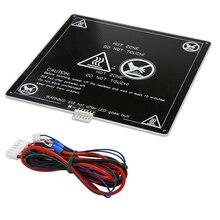Kadar 110 Derece MK3 12 v Heatbed Alüminyum Isıtmalı Yatak 220mm * 220mm * 3mm MK2B & MK2A F/AM8 Anet A6 A8 Mendel i3 3D Yazıcı ...