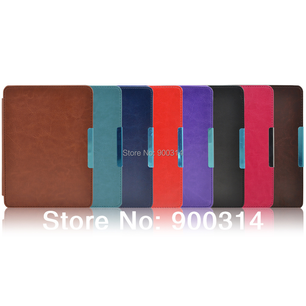dea3b6c59 Leather Case Cover funda with hand holder for Amazon kindle paperwhite 1/2/3  (All versions: 2012,2013,2014,new2015)+film+stylus-in Tablets & e-Books Case  ...