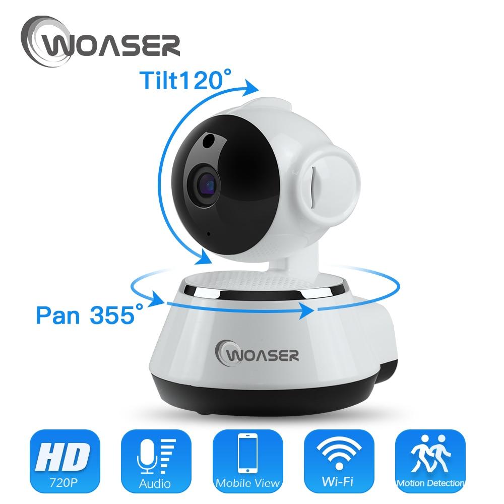 WOASER 1.0MP WIFI IP Camera Wireless IR-Cut Night Vision Two Way Audio HD 720P PTZ CCTV Surveillance Camera P2P Cloud Mobile APP