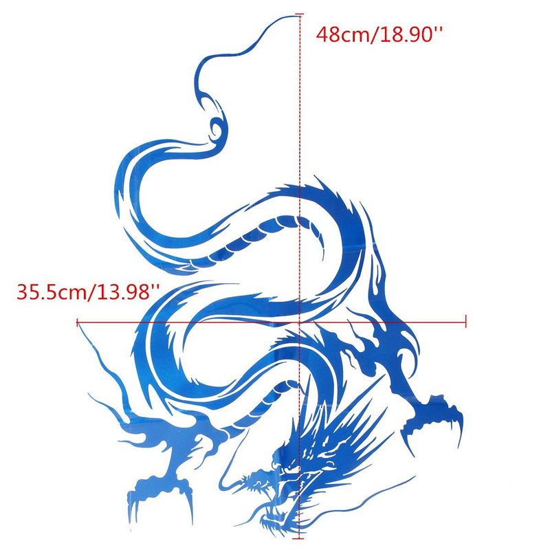 Image 4 - 1pcs Chinese Dragon Car Stickers and Decals For Car Head Hood Doors Graphic Wrap Auto Decal Racing Vinyl Car Styling-in Car Stickers from Automobiles & Motorcycles
