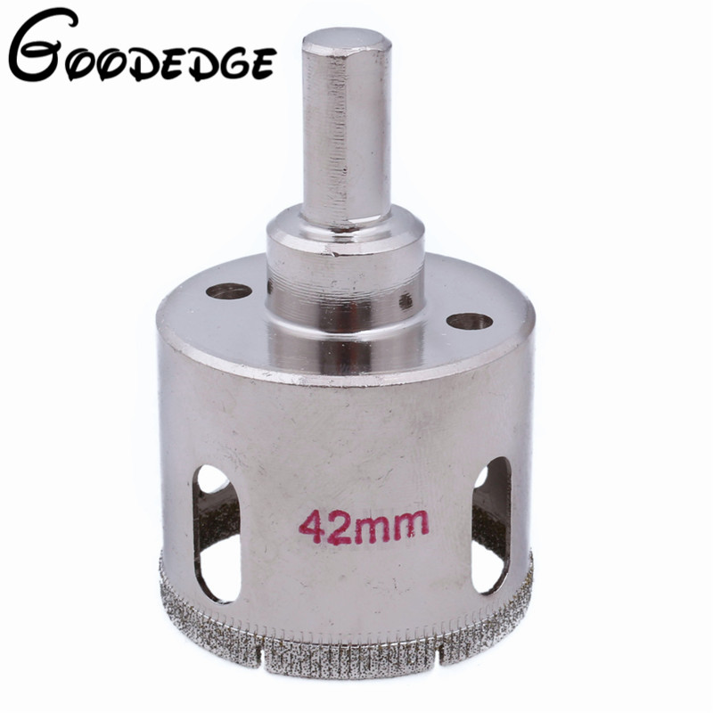 цена на 42mm Electroplated Diamond Coated Hole Saw Cutter Core Drilling Drill Bits For Masonry Glass Marble Tile Granite Ceramic Rock