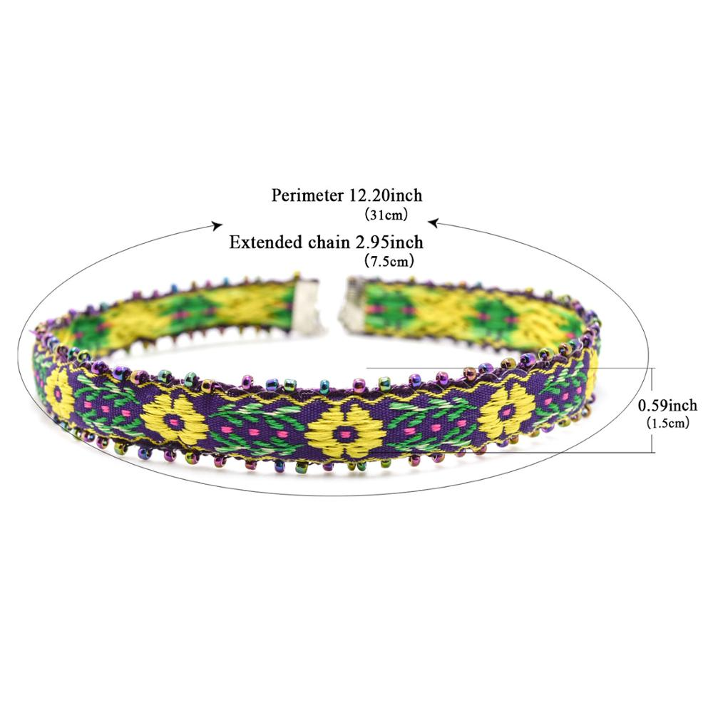 Hot Trendy Bohemia Style Colorful Seed Beads Handmade Crochet Flower ...