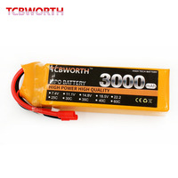 TCBWORTH 4S 14.8V 3000mAh 40C Max 80C RC Drone LiPo Battery For RC Airplane Quadrotor Helicopter Drone 4S RC Li polymer battery