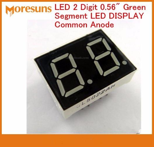 Fast Free Ship 100pcs/lot LED 2 Digit 0.56
