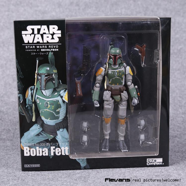 Star Wars REVO Series NO.005 Boba Fett PVC Action Figure Collectible Model Toy 16cm funko pop star wars boba fett 08 pvc action figure collectible model toy 12cm fkfg126 retail box sp050