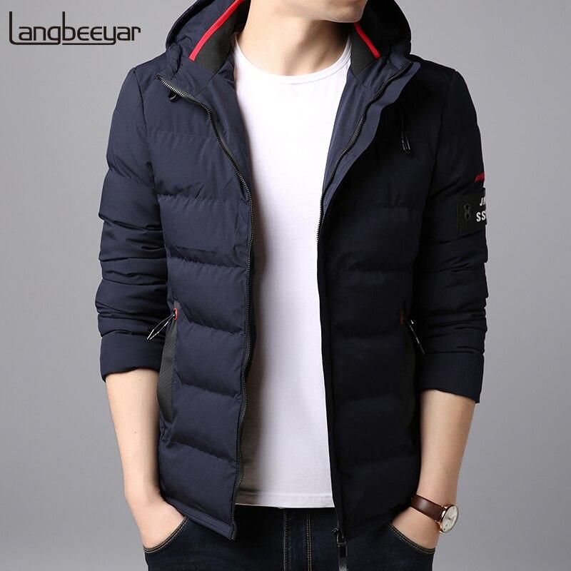 2018 Толстая зимняя Модная брендовая куртка для мужчин стеганая уличная мужские парки с капюшоном корейский пузырь фугу