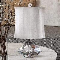 Diamond Drops Shape K9 Crystal Table Lamp White Bedroom Living Room Desk Table Lamp Luminarias Decoration