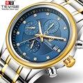 TEVISE мужские часы Топ бренд класса люкс автоматические механические часы мужские спортивные водонепроницаемые светящиеся Луна фаза часы ...