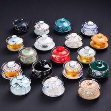 1PC 130ml hand-painted bowl Tea Tureen Chinese Kung Fu Bowl,China Gaiwan Teapot,Ceramic Service Tiekuanyin