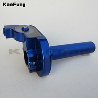 Anodized Blue CNC Aluminum Alloy Throttle Grips for Kayo Bse CRF50 70 110 IRBIS 125 250 Dirt Pit Bike Motorcycle