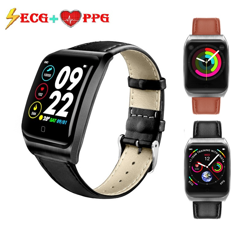 ONEVAN ECG PPG Smart Band Blood Pressure Heart Rate Monitor Waterproof Women Fitness Bracelet Activity Tracker Men Sport Watch image