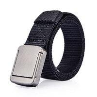 Mantieqingway Luxury Brand Canvas Belt For Mens Elastic Buckle Belt Strap Unisex Women Casual Automatic Waistband