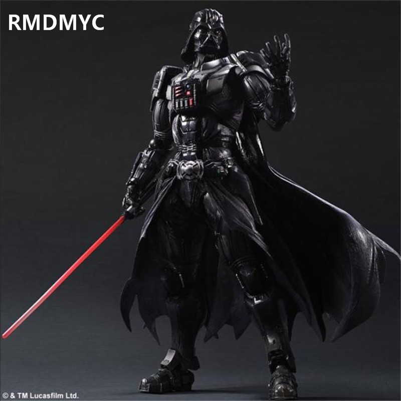 ФОТО RMDMYC 26cm High-quality Star Wars 7 Action Figures Toys Play Arts Kai Darth Vader PVC Model Collection Dolls toys best Gifts