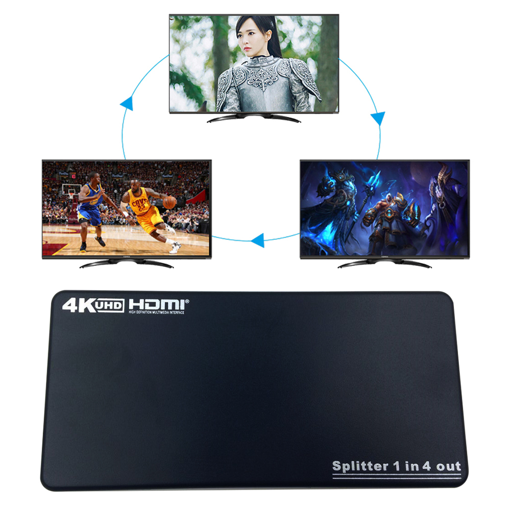US Plug HDMI 1x4 Splitter 1 In 4 Out Distributor 4K/2K 1.4V 2160P 4 HDMI to 1 Video Signal Connector Support HDMI1.4B,HDCP1.4,3D significant pharmaceuticals reported in us patents