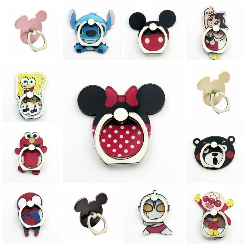 Mickey Minnie Mobile Phone Holder Universal Phone Ring Cartoon Phone Stand Finger Ring Holder Tables Support Celular For IPhone
