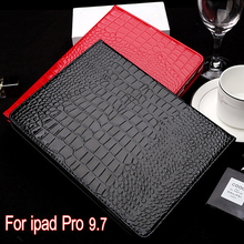 Case for iPad pro 9.7 inch PU crocodile pattern fabric Cover 360 degree protection Smart Case With stent For Apple iPad pro 9.7