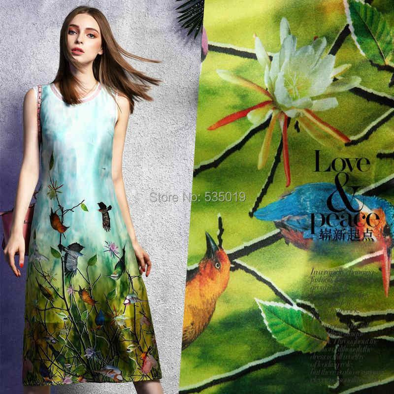 2018 новый супер есть Французский кружево Тюль ролл набор с цветочным принтом 100% натуральный шелк ткань платье Colth материал для Вышивание текс