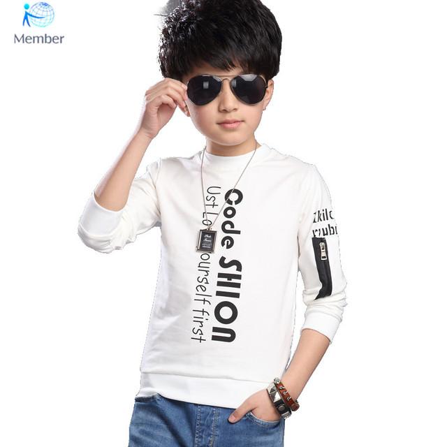 Crianças meninos t camisas de manga longa Primavera Outono Crianças meninos Hoodies Bebê Caçoa o Tshirt Longo Da Luva Do Esporte Roupa Das Crianças 30 #