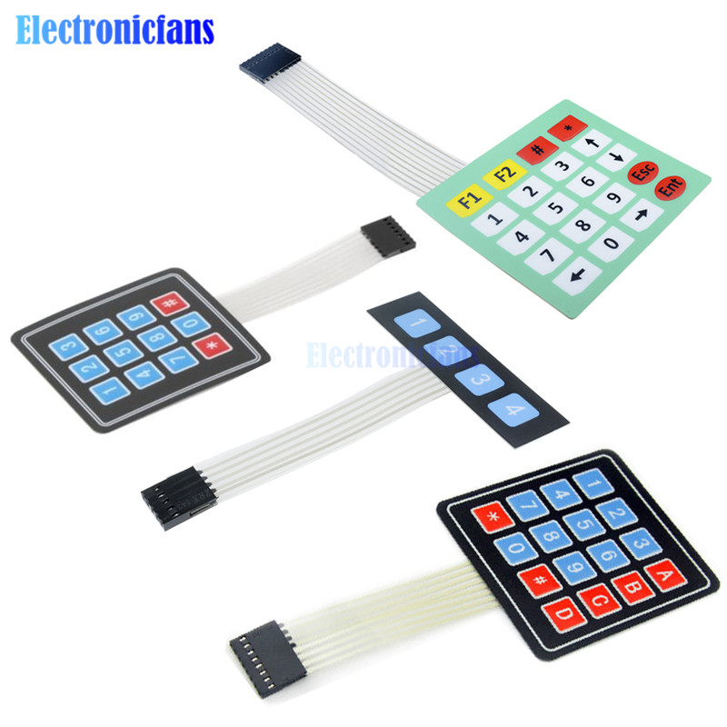 1 x 4 4*4 Matrix Array Matrix keyboard 4 <font><b>12</b></font> 16 20 Key 1x4 3x4 4x4 4*<font><b>5</b></font> Membrane Switch Keypad for arduino smart car image