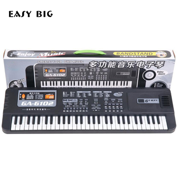 EASY BIG Musical Educational 61 Keys Electronic Piano Keyboard Toys With Microphone Musical Kids Toy Gift For Boys Girls TH0052