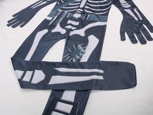 Image 5 - Skull Paratrooper Cosplay Costume Children Streetwear Costumes Boys Overalls Fortnited Cosplay Children Halloween Festive Evenin