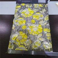 High grade gold thread jacquard fabrics fashion/sunflower flowers love pastoral wind/dress fabrics