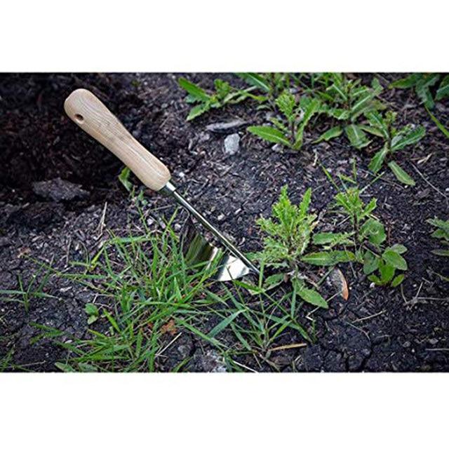 Manual de Aço inoxidável Bend-prova Grama Weeder Jardim de Casa Mão Extrator Ferramentas de Escavação Manual de remoção de raiz principal