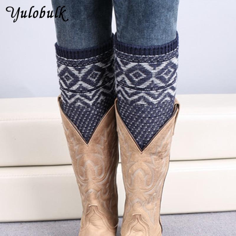 Underwear & Sleepwears Leg Warmers Dynamic New Autumn/winter Crochet Leg Warmer Woman Knit Boot Socks Botas Femininas Warm Jacquard Weave Bohemia Boot Cuffs Gaiters Sale Price