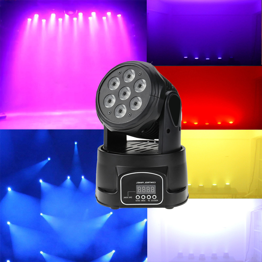 US $104 0 35% OFF|Lixada 2 psc100W 4 In 1 RGBW LED Stage Light 9/14  Channels Party Disco DJ Show Sound Active DMX 512 Moving Head stage  Light-in Stage