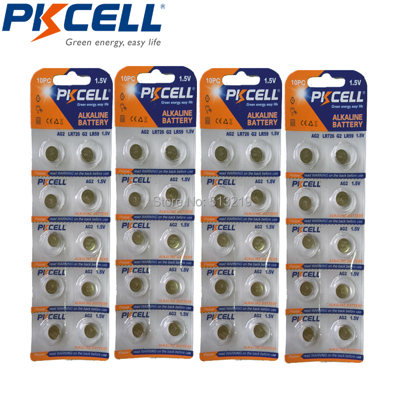 8be473d301c 40 Pcs 4 Cartão AG2 1.5 V 396 SR726SW LR59 SR59 726 0% Botão Pilhas de  Mercúrio Para balas de ovos relógios calculadoras controle remoto em Botão  Baterias ...