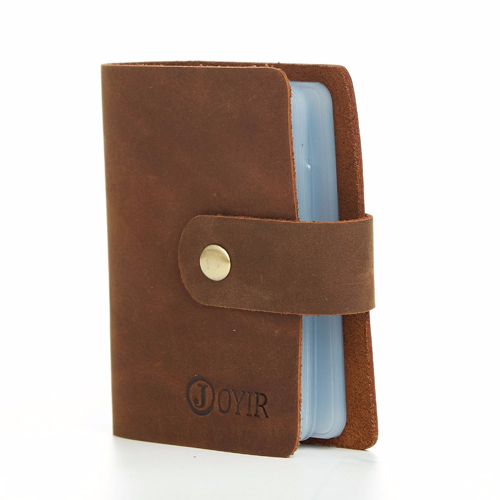 aad89c578e4f Aliexpress.com : Buy JOYIR New 16 Card Slots Men Credit Card Holder Vintage  Genuine Leather Men Purses Wallets Card Cases For Male Bag Wholesale K015  ...