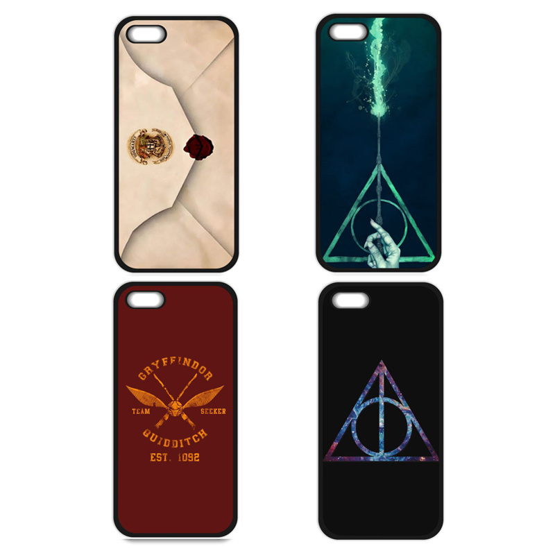 Harry Potter Logo Cover Case for iPhone 4 4S 5 5S 5C SE 6 6S Plus Samsung S3 S4 S5 Mini S6 S7 S8 Edge Plus A3 A5 A7