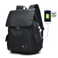 Waterproof Large Capacity 15 6 Inch Laptop Bag Man USB Design Backpack Bag Black Backpack Women