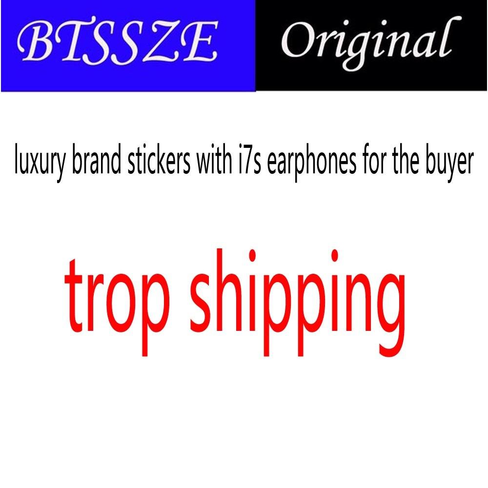 Marque de luxe autocollants avec i7s écouteurs pour la buyet à drop shipping