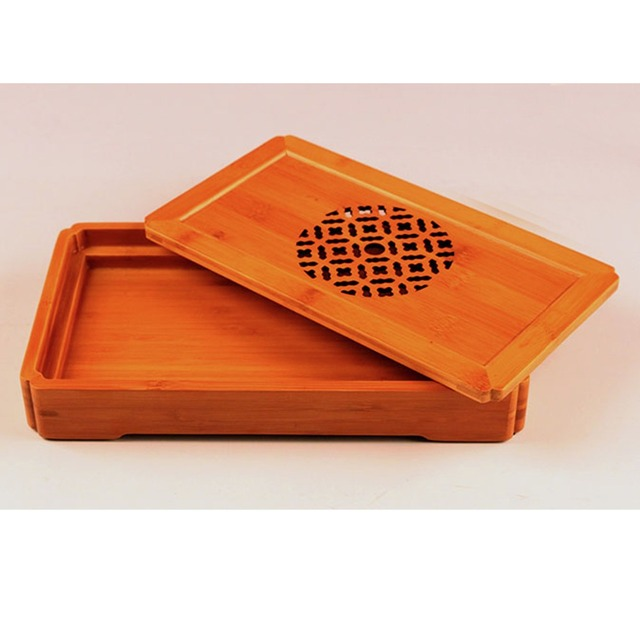 New Bamboo Gongfu Tea Tray Chinese Serving Table Small Size Quality  30*17*4cm