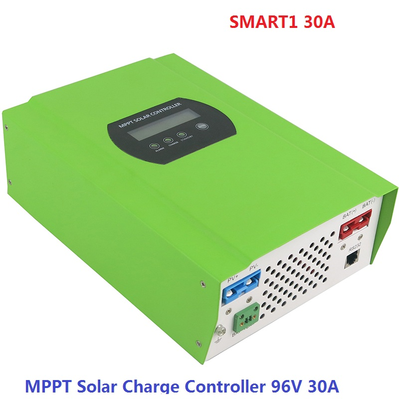 MPPT Solar Charge Controller 96V 30A MAX PV Input 300V Battery Panel Regulator 2016 new tracer 3215bn max pv input 150v 30a 12v mppt solar charge controller