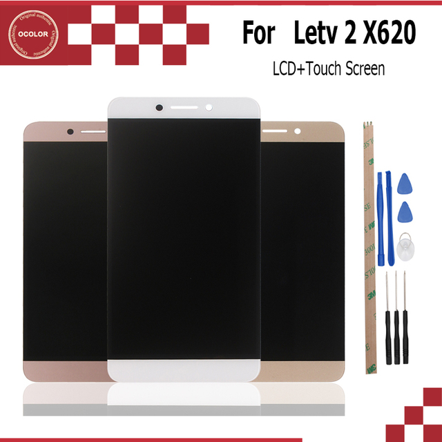 ocolor For Letv X620 X625 LCD Display and Touch Screen Assembly  Repair 5.5 inch For Letv X626 X527 X520 X522 Le 2 Pro +Tools