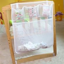 Storage-Bag Pocket Crib-Organizer Diaper Hanging Baby Cheap Net Toy Cot Bed for Bedding-Set