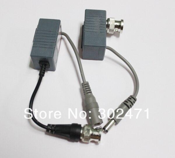 Система видеонаблюдения BNC видео Мощность балун UTP кабель витая пара производительный приемопередатчик, видео-переходник с RJ45 UTP Порты и разъёмы и Защита от всплесков напряжения