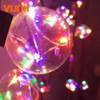 8 м Ретро круглая G40 RGB светодиодная гирлянда 25 ламп Guirlande Lumineuse сказочная гирлянда водонепроницаемая для свадьбы/Вечеринки/рождественского ...