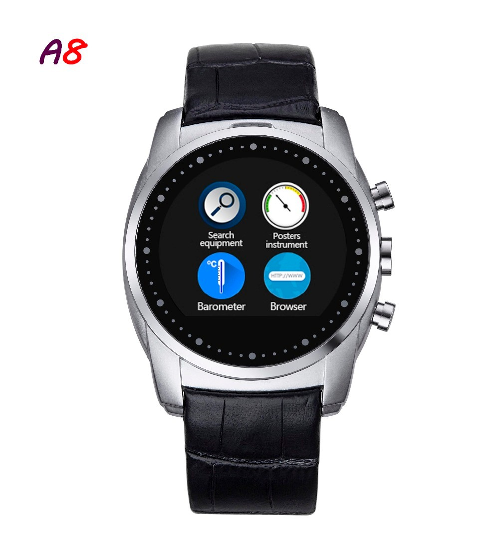 2016-Fashion-Smart-Watch-A8-Support-SIM-Card-Bluetooth-Sim-Watch-Round-Dial-Alloy-Material-Leather (3)