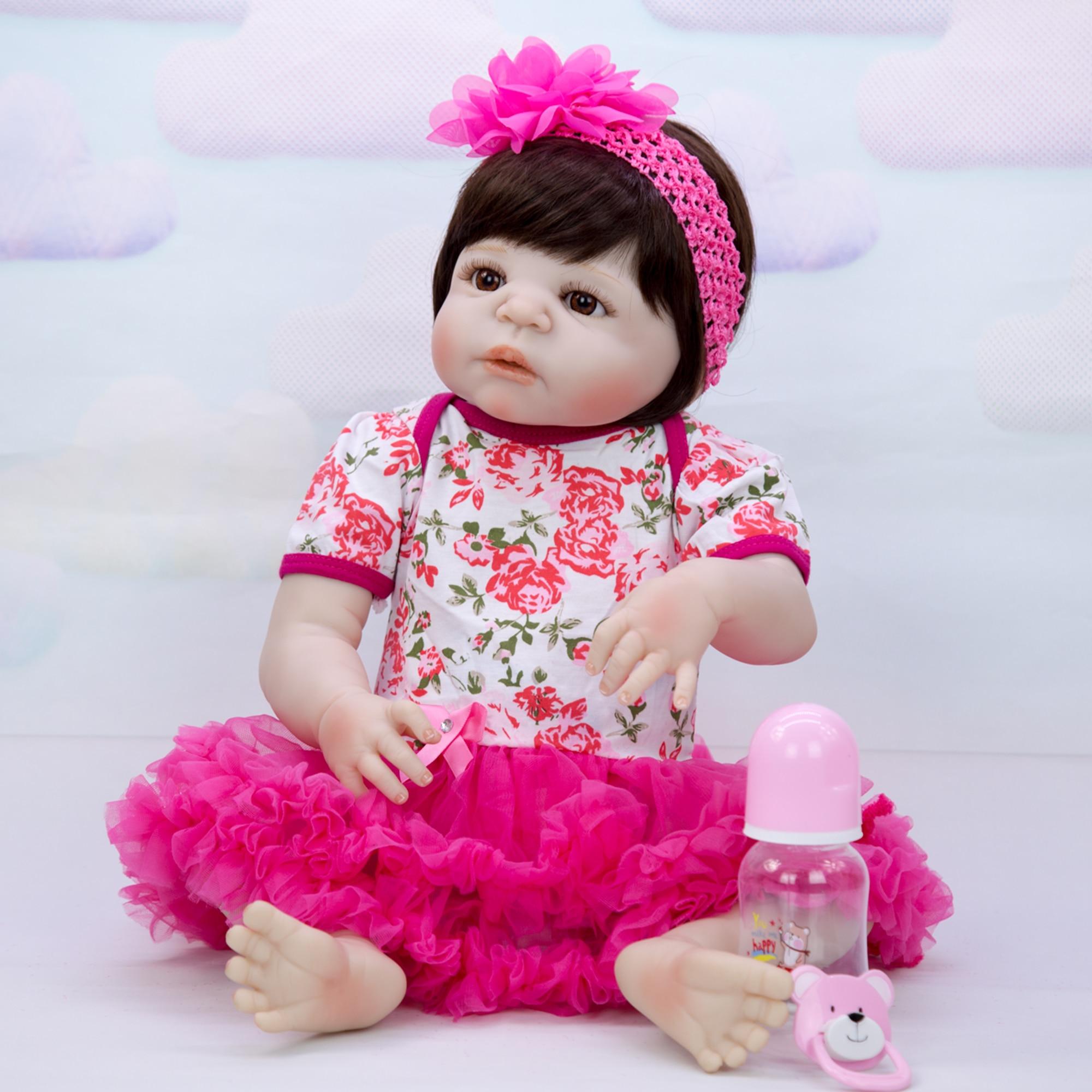 Oyuncaklar ve Hobi Ürünleri'ten Bebekler'de KEIUMI Moda Reborn Kız Bebek 23 ''57 cm Gerçekçi Yenidoğan Prenses Bebek bebek çocuklar için doğum günü hediyesi Yatmadan Oyun'da  Grup 2