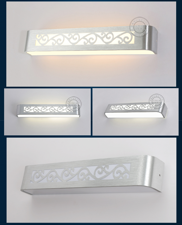 ФОТО Special package LED mirror mirror bathroom bathroom modern minimalist wall lamp bathroom mirror lamp power saving ZH