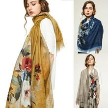 Fashion Womens Printed Satin Silk Scarf Bohemia Warm Wrap Shawl Soft Touch New